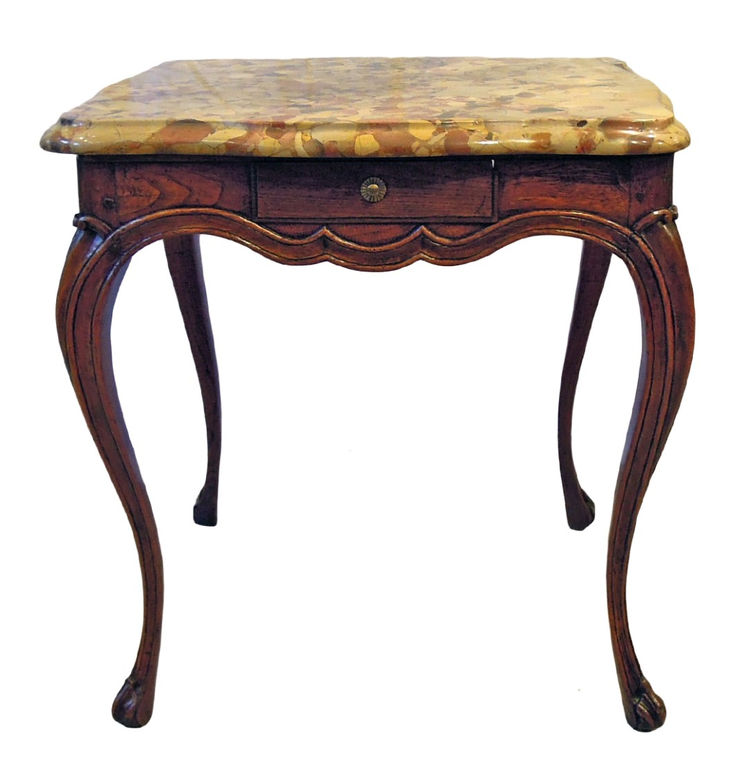 Louis xv marble top table de milieu john nelson antiques - Table de chevet louis xv ...