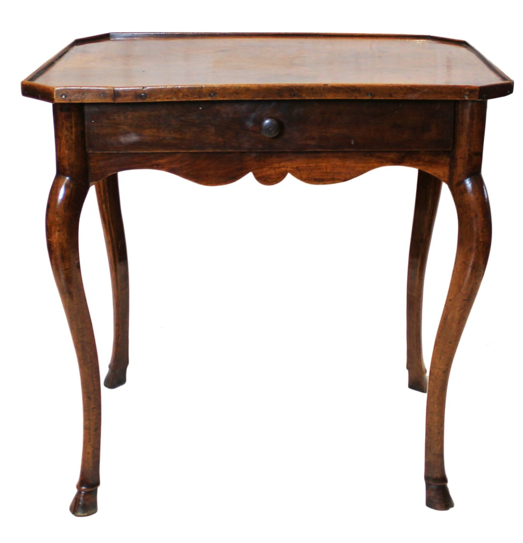 Louis xv walnut table john nelson antiques - Table de chevet louis xv ...