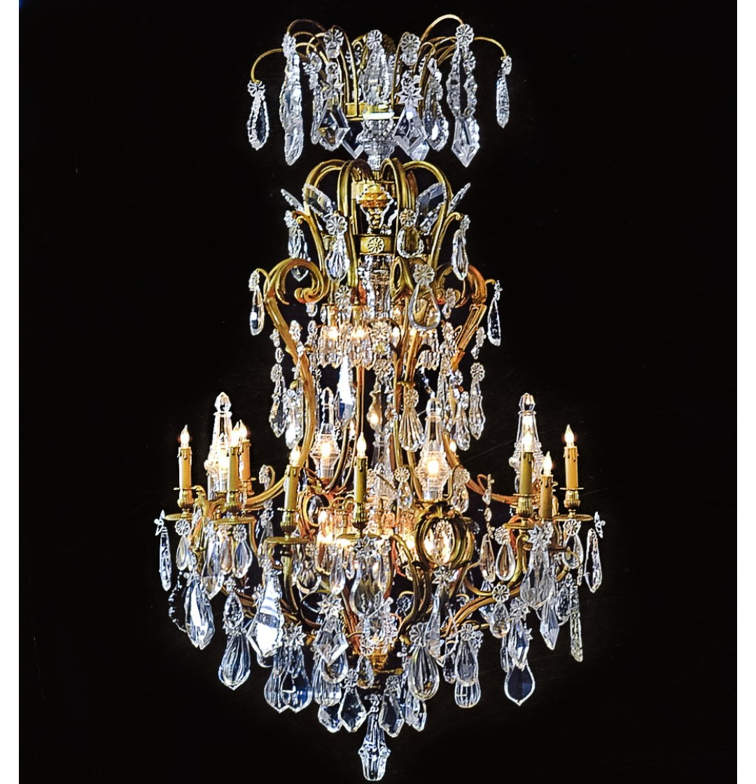Louis xv style dore bronze crystal chandelier 33 lights john louis xv style dore bronze crystal chandelier 33 lights aloadofball Gallery