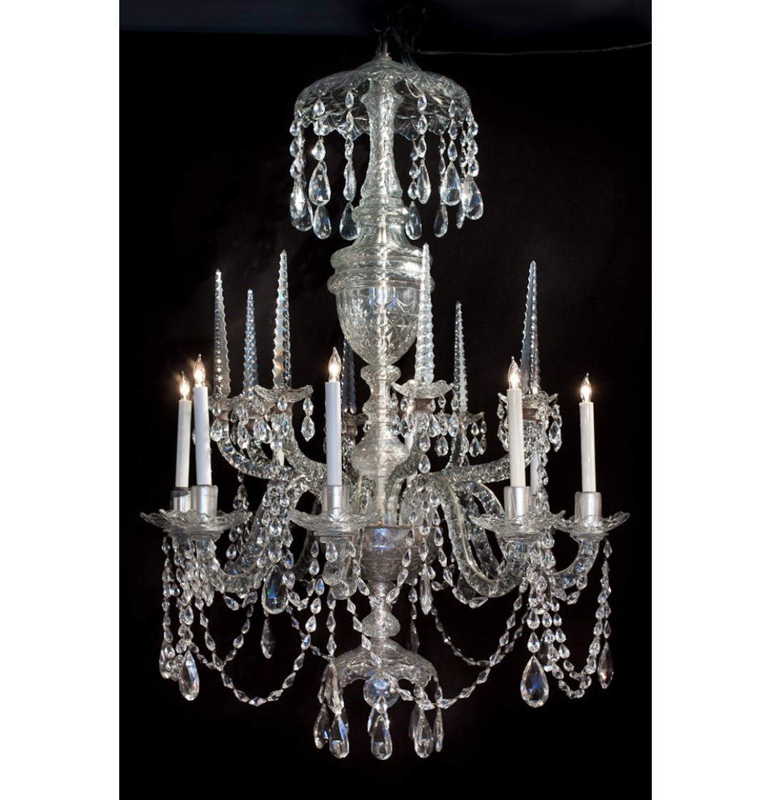 Irish waterford crystal chandelier 8 lights john nelson antiques irish waterford crystal chandelier 8 lights aloadofball Images
