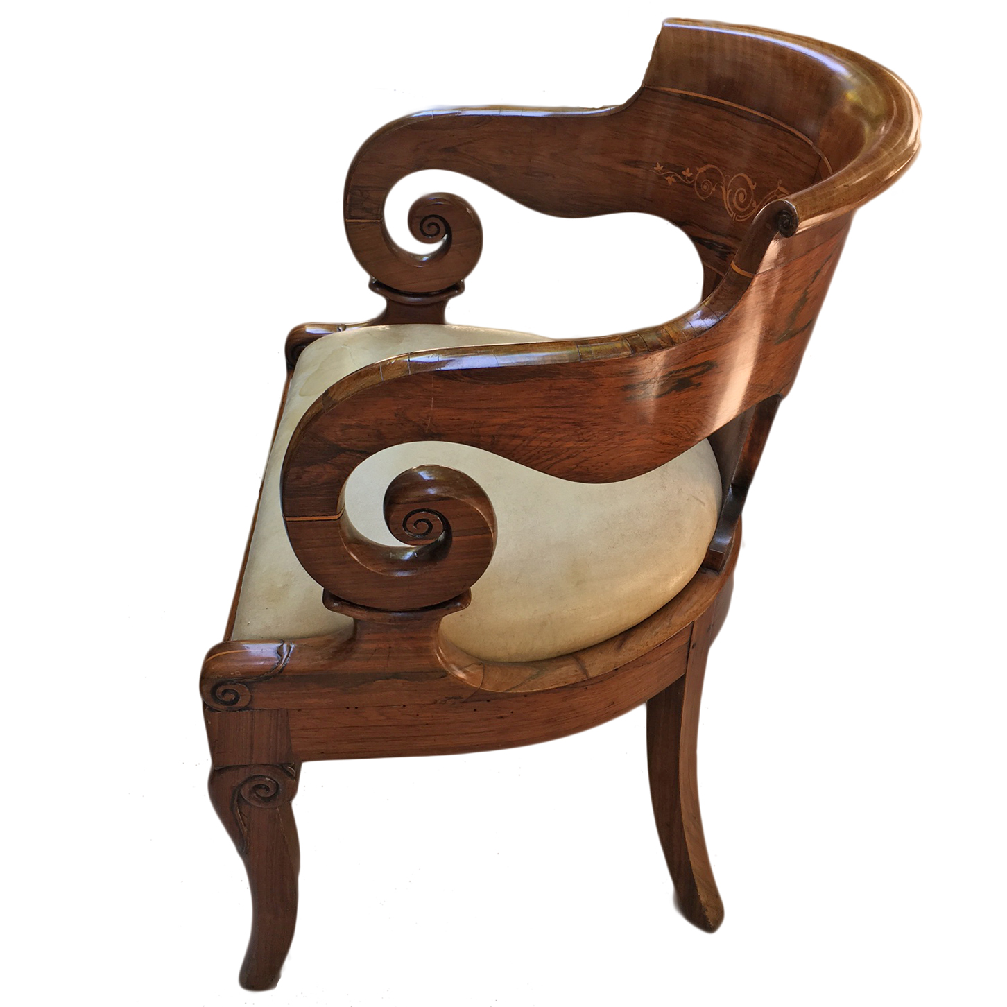 Empire Tub Chair - John Nelson Antiques